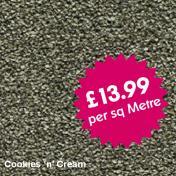 Lifestyle Carpets - Canterbury - Cookies 'n' Cream